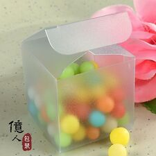 20 Frosted PVC Box Wedding Party Candy Favor Craft Jewelry Packaging Display box