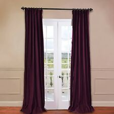 Half Price Drapes Vintage Cotton Velvet Curtain Panel