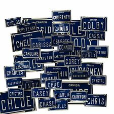 CANADA 'C' Mini Personalized Novelty License Plate Embossed Metal Name Bike/Toys