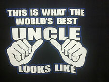 Worlds Best Uncle T-Shirt Special Nephew Niece Gift Tee Your Brother