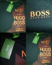 HUGO BOSS Green Label Crew Neck T shirts NWT Black Color