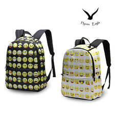 Design Boys Girls Kids School Bags Smiley Mood Emoji Day Pack Shoulder Backpacks