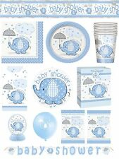 UMBRELLAPHANTS BOY BLUE Baby Shower PARTY ITEMS Tableware Balloons Decorations