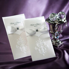 50 Sets Wedding Invitations Cards Complimentary envelopes and seals B9014