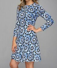 WOW! New Tags Michael Kors printed fit flare sweater dress S-L $160