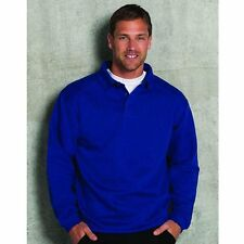 Russell Europe Heavy-Duty Buttoned Polo Sweatshirt Men's Collared Jumper XS-4XL
