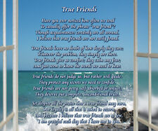 True Friends -  8x10 Poem Print About  Friendship. Ready for framing.