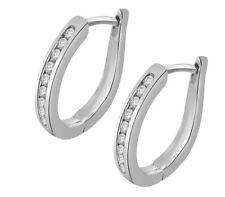 SI1/G 0.20Ct Round Cut Diamond Jewelry Solid 14K Rose Gold Hoops Huggie Earrings