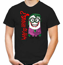 Minion Joker T-Shirt | Dark Knight | Batman | Bane | Riddler | Minions | Kult