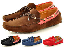 Men's Casual Loafers Moccasins Slip on Driving Shoes lace detail UK Sizes 6-11