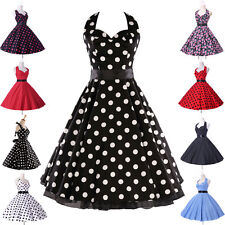 8 Style Rockabilly Floral Vintage Tea Housewife Dress Party Swing Evening Dress