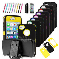 Hybrid Impact Hard Case Belt Clip Holster Protective Cover Skin For iphone 4 4S
