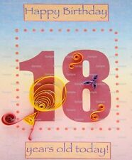 Happy 18th Birthday ~ Frosting Sheet Cake Topper ~ Edible Image ~ D5968