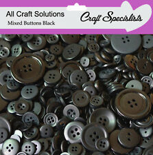 Top Quality BLACK  Buttons / Plastic Buttons / Assorted Buttons / Arts & Crafts