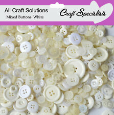 Top Quality WHITE Buttons / Plastic Buttons / Assorted Buttons / Arts & Crafts