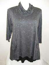 LOGO by Lori Goldstein Plus Size Cowl-Neck Top with an Attached Solid Tank