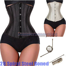 28 Steel Bones Waist Training Full Spiral Steel Boned Shaper Underbust Corset SY