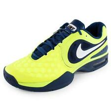 Nike Men RAFA Air Max Courtballistec 4.3 Tennis Shoes Yellow & Navy 487986-714