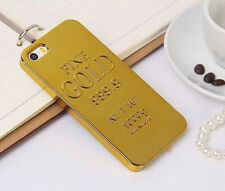 New Fashional Trend of electroplating gold bars hard cover case for iphone 5 5S