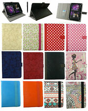 "Universal Multi Angle Wallet Case Cove Stand and Card Slots for 7"" - 8"" Tablet"