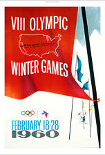 Squaw Valley 1960 winter olympics poster NEW CANVAS various SIZES available, NEW