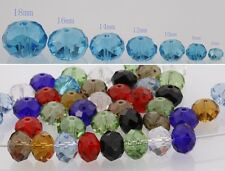 6/8/10//12/14/16/18mm Mixed Color Rondelle Faceted Crystal Loose Spacer Beads