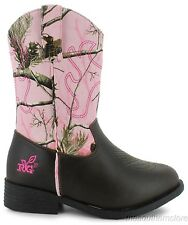 REALTREE Camo LIl Dusty Jr Girls Boot Toddler Cowgirl Western Style Camouflage