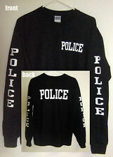"""POLICE"" Long Sleeve T-Shirt (Sizes S - 5XL)"