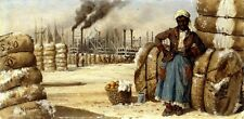 """WILLIAM AIKEN WALKER """"At the Levee"""" POLLUTION african american woman bale NEW!"""
