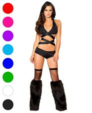 Wraparound Halter Top With Hood - Roma Costume T3054