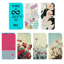 Beautiful Flowers Stand Wallet Flip PU Leather Case for Samsung Galaxy S3 S4 S5