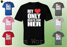 Husband and Wife Shirt - My Heart Only Beats For Her - Couple His and Hers Love