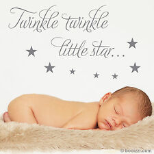 Twinkle Twinkle Little Star Nursery Wall Sticker Decal Quote Baby Child Decor