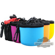 5 Color Neoprene Soft Protect Bag Case Cover Pouch For Sony DSC-QX10 Camera Lens