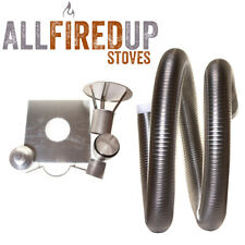 """Flexible Flue Liner Installation Kit 2 For Multifuel Wood Burning Stove 5"""" To 5"""""""