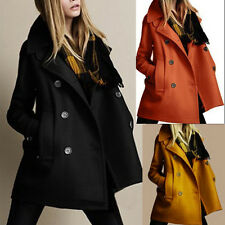 2014 Stylish Women Slim Wool Trench Warm Coat Double Breasted Jacket Outwear B