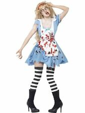 Adult Halloween Zombie White Snow Alice  Ladies Party Fancy Dress Costume Outfit