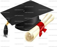 Graduation Cap and Diploma ~ Frosting Sheet Cake Topper ~ Edible Image ~ D5925