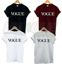 Vogue texte t shirt top tee tshirt Swag Dope Fashion Hipster Tumblr Celine Paris