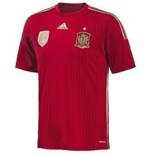 ADIDAS FEF Spain Official 13/14 Home Red Gold Soccer Jersey Shirt NEW Mens S M L
