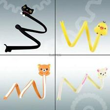 lovely cartoon animal cat long winder wire cable cord management tie organizer