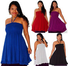 @X110 TOP BLOUSE HALTER RAYON CRINKLE SMOCKED EMPIRE LADIES FASHION MADE 2 ORDER