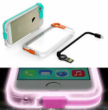 Call LED Flashing Lights Up Case Cover  USB Charge Cable FOr iphone 5G 4G 6 plus