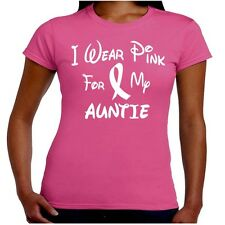 I Wear Pink For My AUNTIE Breast Cancer Awareness T Shirt Junior Fit
