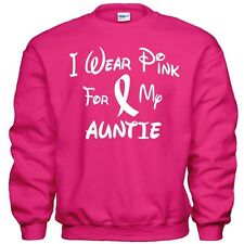 I Wear Pink For My AUNTIE  Breast Cancer Awareness Sweatshirt 8 Sizes