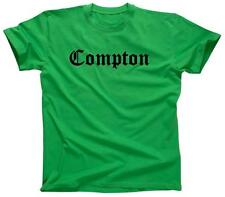 COMPTON Old English Eazy E NWA Dr. Dre Easy Game Street - T-Shirt - NEW - Green
