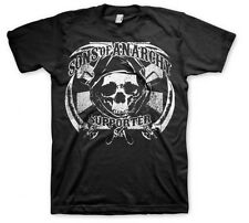 SONS OF ANARCHY SOA SAMCRO SUPPORTER SICKLE SKULL REAPER BIKER T TEE SHIRT S-3XL