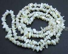 "SALE Long 33"" White 7-8mm baroque Natural Shell Beads necklace-nec5811"