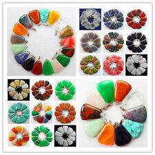 Wholesale! 10pcs Mixed Gemstone Pendant Bead LX-106