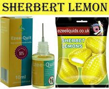 10ml LEMON SHERBERT FLAVOR BOTTLE E LIQUID VAPE CIG ECIG JUICE 6 12 18 24 mg